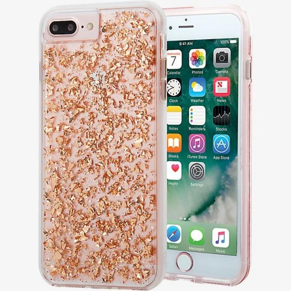 iPhone Karat Gold flakes case Rose Gold 5a18ebc33